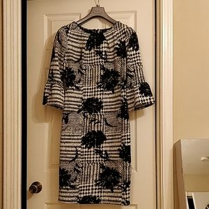 NWOT Black and White Floral Dress
